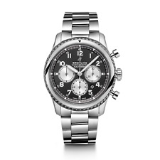 NEW BREITLING NAVITIMER 8 B01 CHRONOGRAPH 43 STAINLES STEEL WATCH  AB0117131B1A1