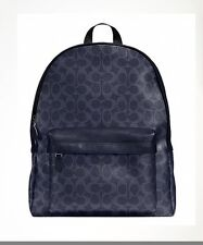 NWT 100% Authentic Coach Campus Laptop Back Pack In Signature F71973 Retail $495