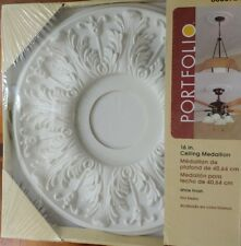 """Portfolio White Colonial Style 16"""" Ceiling Medallion Decorative New in Package"""