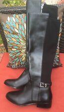 STUN-NING!*****Michael Kors Hamilton Knee High Black Leather Riding Boots Size 9