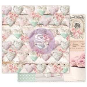 """With Love By Frank Garcia Double-Sided Cardstock 12""""X12""""-Stitched Hearts"""
