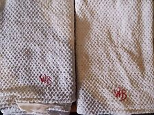Altes Leinen Handtuch Grob Gerstenkorn Old linen towels coarse  Monogram WB