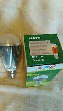 12 x 7W Dimmable BC B22 Cool White LED Light Lamp Bulb Low Energy 240V JobLot