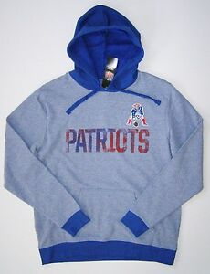 Majestic New England Patriots Men's Gameday Retro Classic Pullover Hoodie Jacket