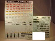 DECALS 1/43 PLAQUES RALLYE DE MONTE CARLO 1995 à 1998 - COLORADO  43104