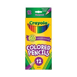 *1-Pack* Crayola 12 Sharpened Nontoxic Eco-Friendly Colored Pencils 68-4012