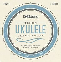 D'Addario EJ65TLGPro-Arté Custom Extruded Nylon Ukulele Strings Tenor Low-G