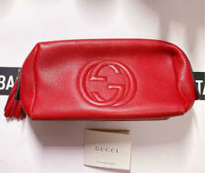 Gucci Soho Pouch With Tassel Red Gg