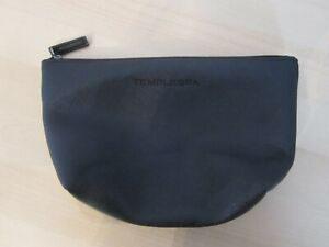 TEMPLESPA Black Faux Leather Cosmetic Bag