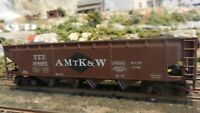 Athearn Custom Lettered  HO BB Quad Hopper, AMtK&W, Upgraded,, Exc.