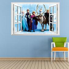 Pegatina Mural de Frozen Anna Elsa Hans Infantil Decoración Interior Adhesivo