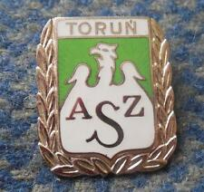 AZS TORUN POLAND BASKETBALL ROWING CLUB BIG SILVER HONORARY ENAMEL PIN BADGE