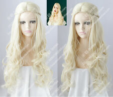 cosplay wig White Queen Alice in Wonderland 2 Platinum Blonde Curly hair wigs