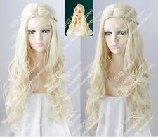 cosplay wig White Queen Alice in Wonderland 2 Platinum Blonde Curly hair wigs