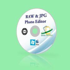 Edit Digital RAW & JPEG Image Photo Editor Editing Software Windows10 Mac Sierra