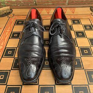 Mezlan Men 11 M Custom Soprano Oxfords Dress Shoes Black Leather Spain Made