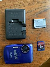 Fujifilm FinePix Z33 WP Digital Camera Blue w/ charger, battery, sd card
