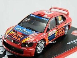 2007 MITSUBISHI LANCER RALLY CAR MODEL HONKANEN 1/43 RED 4 DOOR VERSION R015X(=)