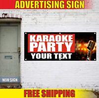 KARAOKE Advertising Banner Vinyl Sign Flag PARTY night club bar music decor home