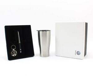 Genuine VW Volkswagen gift box set with Thermal mug keyring & pen 000087700F