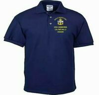 USS CANBERRA  CA-70/CAG-2  NAVY  CRUISER EMBROIDERED LIGHT WEIGHT POLO SHIRT