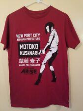 Ghost In The Shell Arise T-shirt Red Motoko Kusanagi Size Medium Anime Japanese
