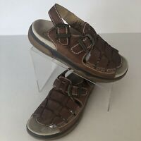 Doc Martens 8852 Brown Leather Fisherman Sandals Mens Size 8 Boating Open Toe
