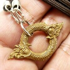 THAI LOVE SEX APPEAL ATTRACTION AMULET NECKLACE CHARM DUO NAGA NAK SNAKE PENDANT