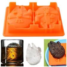 Ice Mold Cube Tray Star Wars Millennium Falcon Pudding Candy Chocolate Mould