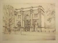 Originale Firmato Lawrence Josset Disegno 1977 Marmo Arco ~ Elencati Artista