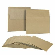50-Pack Brown Kraft Paper A7 Envelopes for 5