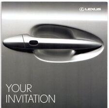 Lexus Open Road Test Drive Event Invitation 2006 UK Market Mailer Brochure