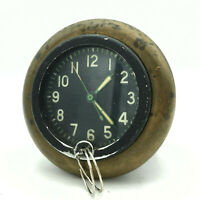 Military Soviet Tank Panel Clock 127 CHS USSR Aircraft Russian Army Rare Vintage
