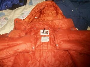 The North Face Synthetic Sierra w HOOD Brown Label Jacket Vintage Nuptse USA TNF