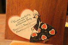 ca. 1900's Antique Valentine's Day Card Die Cut Invitation