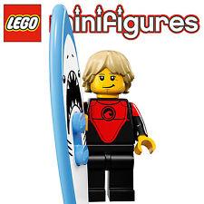 LEGO-Minifigures Serie 17 x 1 Tavola da Surf per i professionisti Surfer Serie 17
