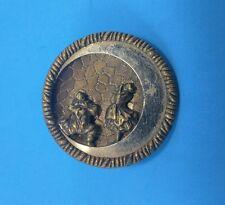 Vintage Button - Clown & Woman Under the Moon