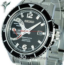 New Seiko Sportura Kinetic Direct Drive Con Brazalete De Acero Inoxidable srg019p1