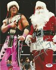 Bret Hart Signed WWE 8x10 Photo PSA/DNA COA Autograph Christmas Picture w/ Santa