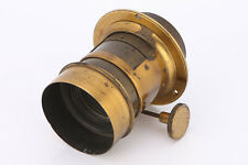 A Brass Bound French Petzval Lens By Darlot