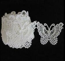 Cute Hot White Butterfly Lace Edge Trim Ribbon Applique Sewing Wedding Craft H7