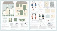 MODA Patchworkstoff FREYA AND FRIENDS DOLLHOUSE, DIY, Puppenhaus nähen + Zubehör