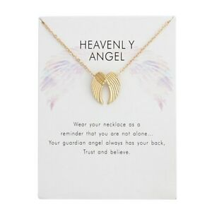 HEAVENLY ANGEL, ANGELS WINGS  NECKLACE & MESSAGE ON CARD,SAME DAY POST