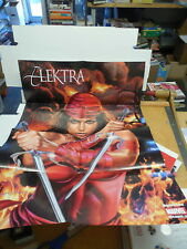 Elektra RARE Greg Horn Art Promo Poster Recalled Nudity Issue Cover Art Sais