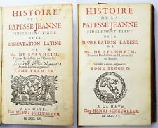 Histoire de la Papesse Jeanne Mr. de Spanheim 1720 4 Kupferstiche 2 Bd. in 1 B.
