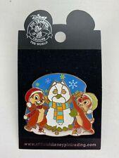 Disney Parks Pin 43781 Chip Dale Chipmunk Snowman Winter