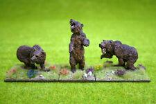 DeeZee Miniatures SET OF THREE CAVE BEARS 28mm Wargames