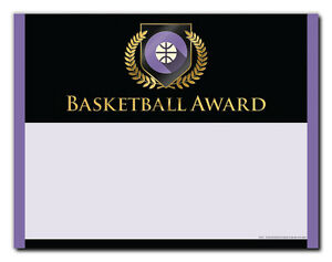 Basketball Sports Award - Gold Shield - Cool School Studios - Package of 25