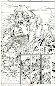 LEONARD KIRK 2003 WITCHBLADE SPLASH ORIGINAL ART!  FREE SHIPPING!