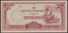 JAPAN, Burma,1942. Occupation Banknote 10R, P16